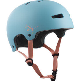 TSG Evolution Solid Color Helmet Damen satin porcelain blue